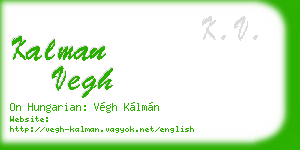 kalman vegh business card